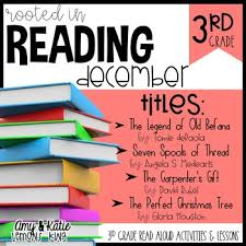 rooted in reading 3rd grade december read alouds with lessons