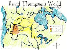 Iron Mountain Michigan Map by David Thompson U0027s World Map Cartographer And Explorer Free
