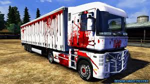 renault truck magnum renault magnum blood skin trailer v1 0 download ets 2 mods