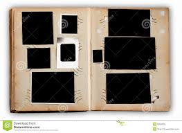 Photo Album Pages Vintage Photo Album With Empty Photos Royalty Free Stock Photo