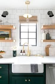 subway tile kitchen ideas white wood subway tile open shelving uooncus uocontest