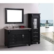 design element bathroom vanities design element hudson 48 inch single sink bathroom vanity set with