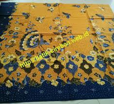 merak biru batik tulis merak bunga biru dasar kuning batik cirebon online
