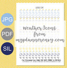 weather icons free planner printable my planner envy