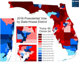 Red State Map by Presidential Results By Florida State House District U2013 Mci Maps