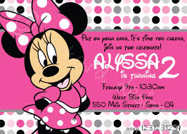 minnie mouse 2nd birthday invitations minnie mouse 2nd birthday