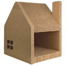 Unique Cat Furniture Cardboard Cat House Cat Scratcher Play House Could Be More