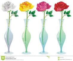 Long Stem Rose Vase Single Rose In A Glass Vase Stock Photo Image 63115373