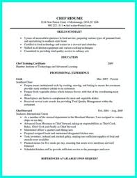 Private Chef Resume Chef Resume Resume For Chef Chef Resume Sample Prep Cook Resume