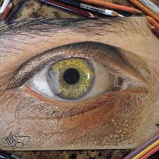 19 year old artist draws unbelievably realistic eyes using just