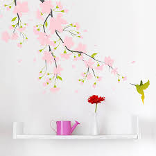 pink blossom colour wall sticker by spin collective pink blossom colour wall sticker