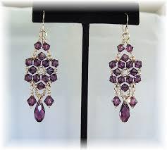Chandelier Earrings Etsy Items Similar To Amethyst Crystal Chandelier Earrings Purple
