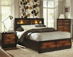 bed with lights in headboard 3443