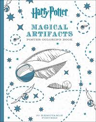 harry potter magical artifacts poster coloring book scholastic