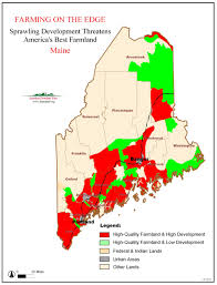 State Of Maine Map by Farming On The Edge State Maps American Farmland Trust