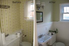 bathroom cool before after half bath design with white and green