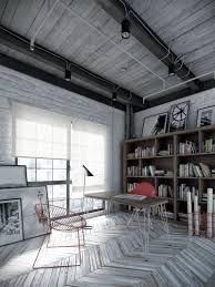 industrial interiors home decor interior beautiful white industrial workspaces home office