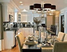 Long Dining Room Chandeliers Black Leather Dining Chair Fancy Stainless Steel Cloche Simple