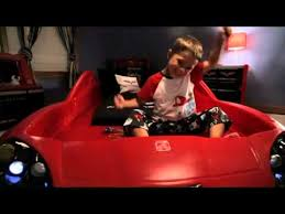 Toddler To Twin Convertible Bed Step2 Corvette Toddler To Twin Bed With Lights Youtube