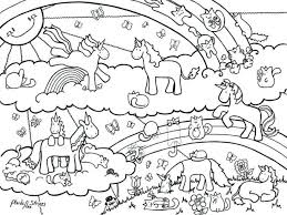 coloring pages unicorn rainbow minecraft page free printable kids