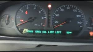 how to reset the oil life indicator on a 1994 99 cadillac deville