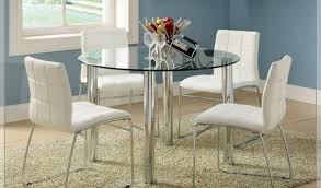 Glass Top Round Dining Tables by Dining Room Illustrious Glass Top Dining Table Suction Cups