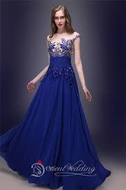 aliexpress com buy instock prom gowns cheap royal blue chiffon