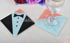 wedding coaster favors hot sell and groom glass coaster wedding favors wedding