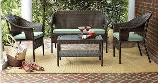 kmart com 40 off patio furniture u003d 4 piece wicker set w