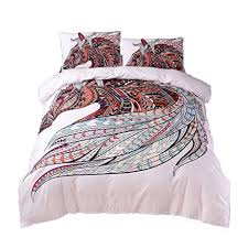 tattoo bedding queen amazon com ktlrr 3d horse bedding set no comforter duvet cover