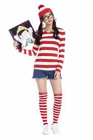 where s waldo costume where s waldo now white stripes costume child t