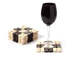 checkers coaster set handmade wooden drinks mats