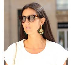 gas earrings gas bijoux gaia earrings gold and real colored feather earrings