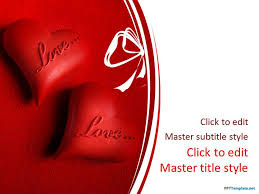 heart design for powerpoint free love and hearts ppt template