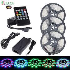 music led strip lights bole dengye music led strip light rgb smd2835 waterproof diode tape
