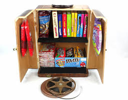 vintage popcorn and candy storage cabinet home theater decor