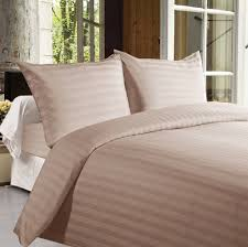 buy bed sheets with stripes 350 thread count light brown online