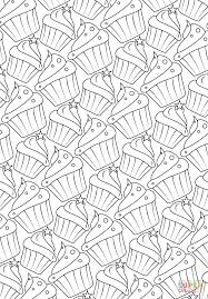 cupcakes pattern coloring page free printable coloring pages