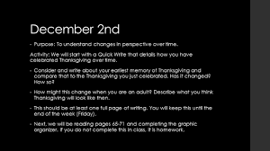 the purpose of thanksgiving sophomore english mrs ellerd december 9th purpose to understand