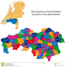 Map Of The Netherlands North Brabant Province Of The Netherlands Stock Photo Image