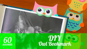 diy paper owl bookmark how to make an owl bookmark in 2x60