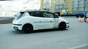 nissan leaf spy shots the new nissan leaf will be able to drive autonomously on the