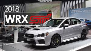 subaru impreza wrx 2018 2018 subaru wrx sti first look overview 2017 new york auto