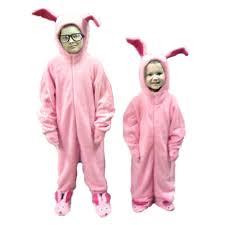 Ralphie U0027s Bunny Suit Pajamas Aunt Clara Christmas Story