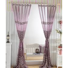 Purple Ombre Curtains Beautiful Ombre Pink Floral Embroidery Sheer Curtains For Patio Door