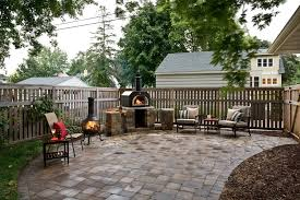 outdoor pizza oven patio contemporary with range hood mount mailboxes