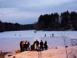 Turner pond walpole ma features winter outdoor ice skating the