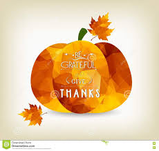 happy thanksgiving background with autumn polygonal leaves and a