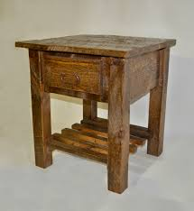Pine End Tables Sawn Pine Nightstand End Table Rustic Furniture Mall By