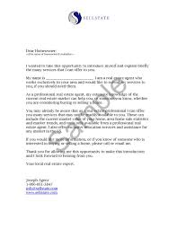 collection of solutions sample introduction letter for real estate